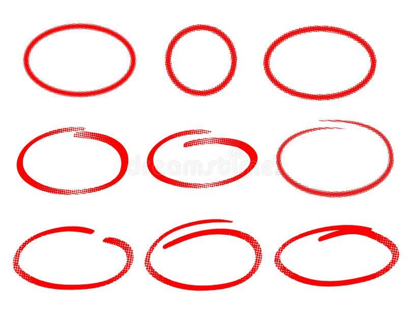 Satz Rahmen Mit Halbtoneffekt Stock Abbildung - Illustration von ...