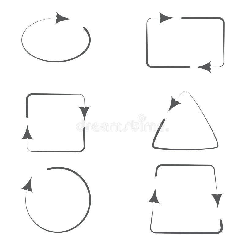 Satz Rahmen mit Pfeilen vektor abbildung. Illustration von punkt ...