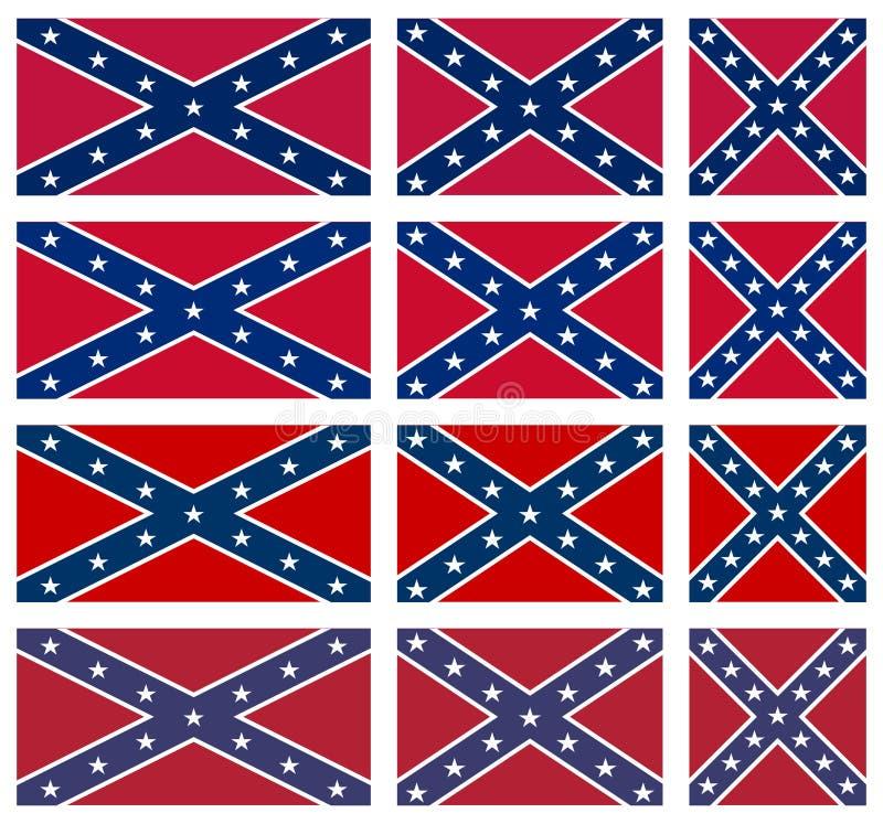 Satz Rebellenflaggen lizenzfreies stockfoto