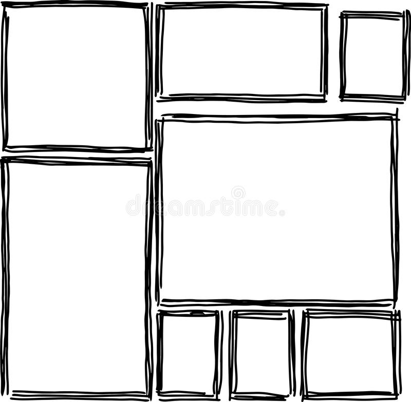 Download Satz Rechteckige Rahmengekritzel Stock Abbildung - Illustration von clip, hand: 96927478