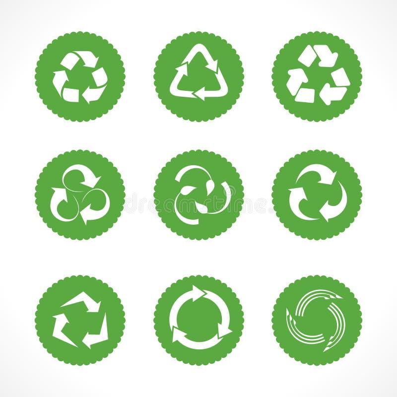 Satz Recycling-Symbole und Ikonen lizenzfreie abbildung