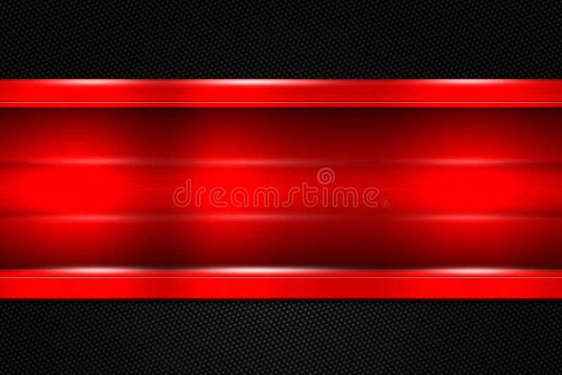 Satz 9 roter und schwarzer Metallhintergrund stockfotografie