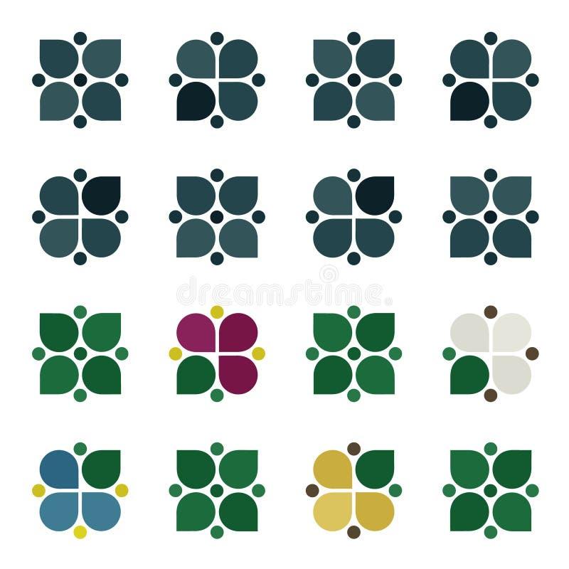 Satz rustikale Blüten lizenzfreie abbildung