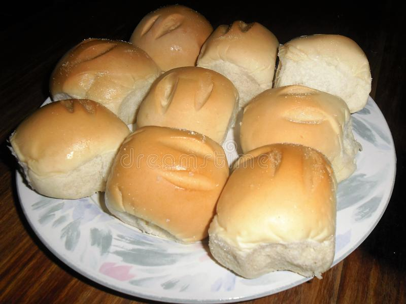 Satz süße und zuckerhaltige Brote stockfotos
