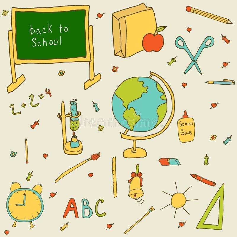 Satz Sachen für Schule lizenzfreie stockbilder