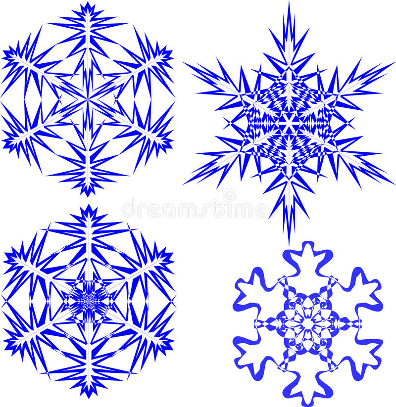 Satz Schneeflocken - 2 vektor abbildung