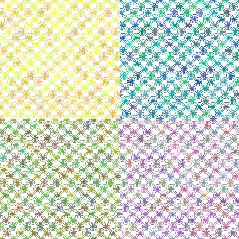 Satz Spirale kräuselt orangefarbenes Muster lizenzfreie abbildung