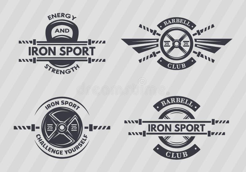 Satz Sportembleme stock abbildung