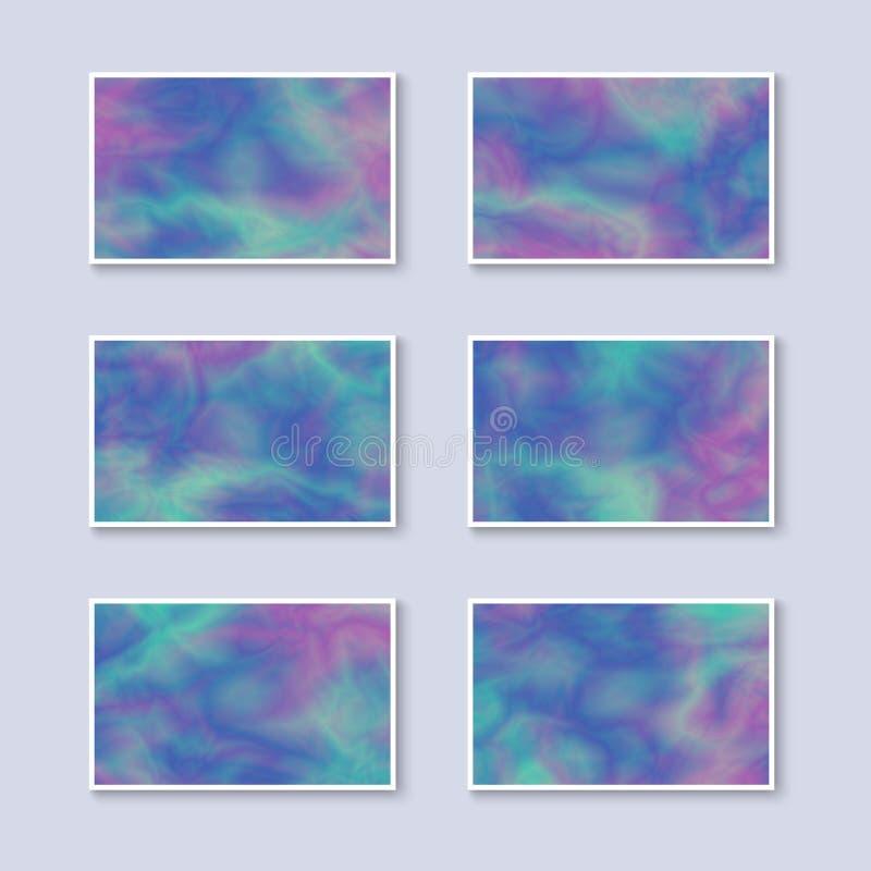 Satz Steigungs-bunte Visitenkarten vektor abbildung