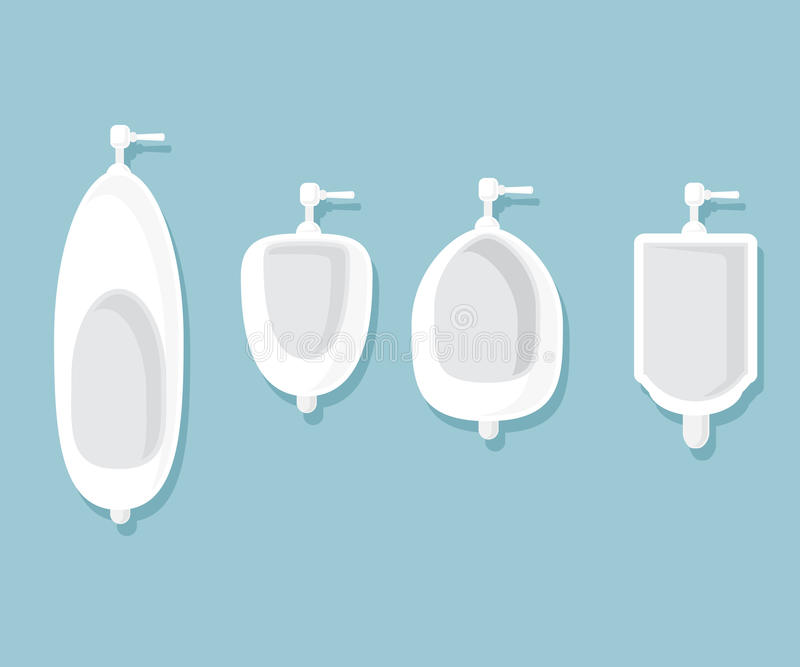 Satz Toiletten im Badezimmer stock abbildung