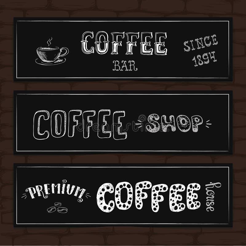 Download Satz Typografiedesignfahnen Auf Einem Ziegelsteinhintergrund Vektor Abbildung - Illustration von erstklassig, papier: 106802608
