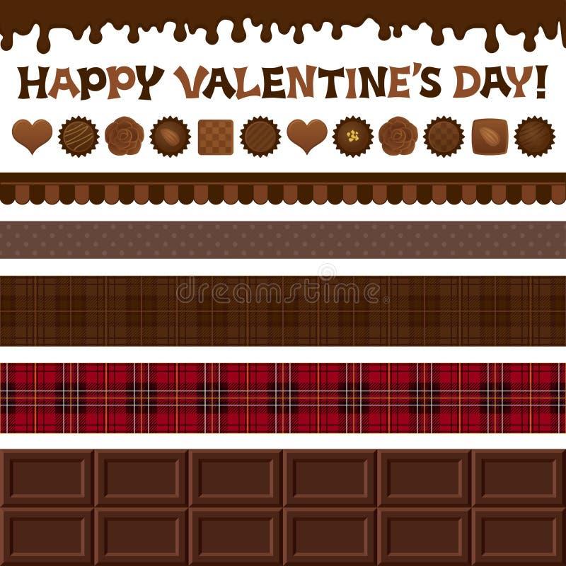 Satz Valentinstagillustrationen. Stockbilder