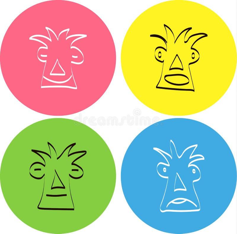 Satz Vektorlächeln Emoticons lizenzfreie stockbilder