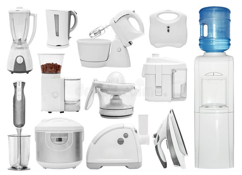 Satz verschiedene Arten von Küchengeräten stockbilder