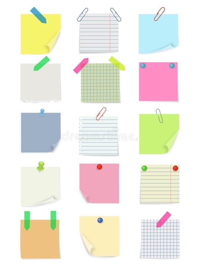 Satz verschiedene Briefpapiere lizenzfreie abbildung