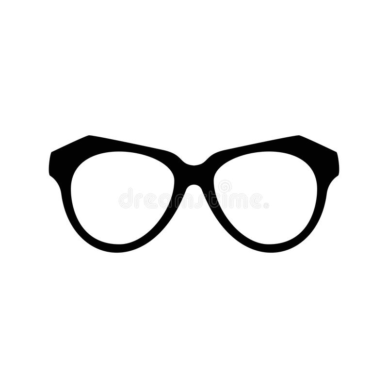 Satz verschiedene Gläser Stilvolle Sonnenbrille für Frauen, Männer und Kinder Augenglas-Sammlungsillustration stock abbildung