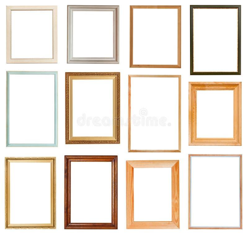 Satz vertikale Bilderrahmen stockbilder