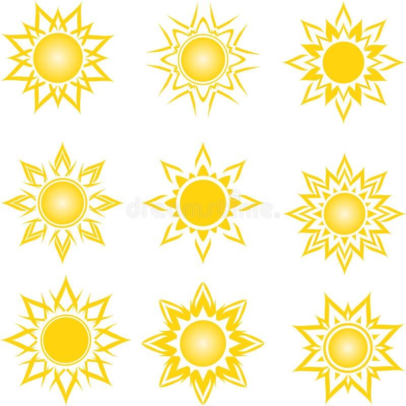 Satz von abstrakte Sonnen vektor abbildung