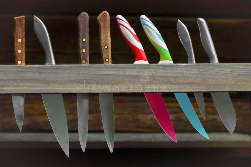 Satz von Art drei von Messern lizenzfreies stockbild