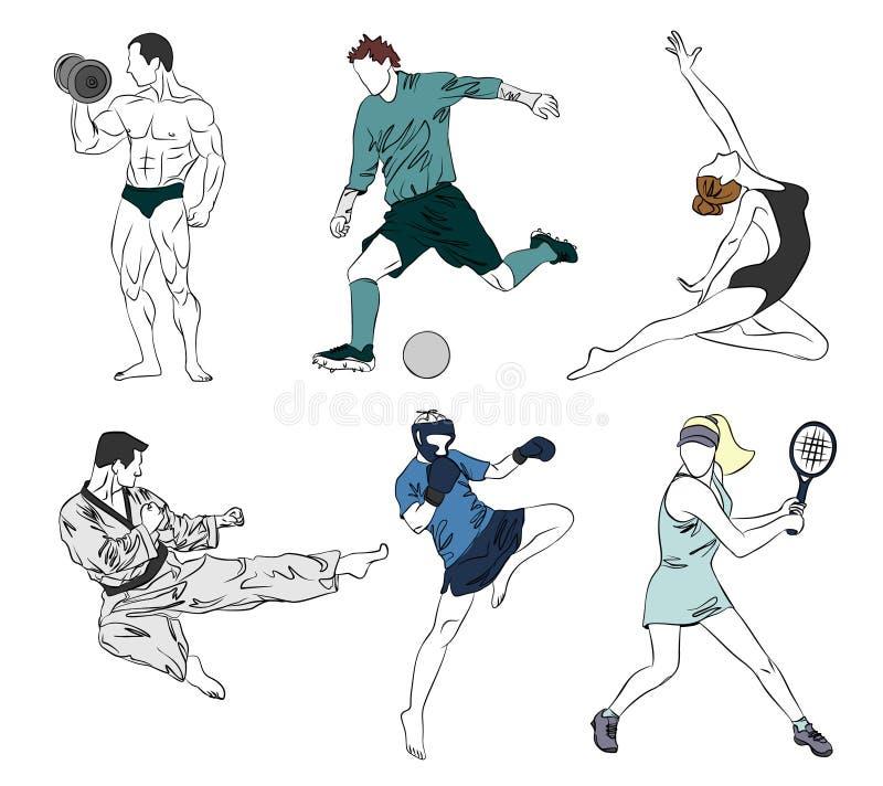 Satz von sechs Sport vektor abbildung