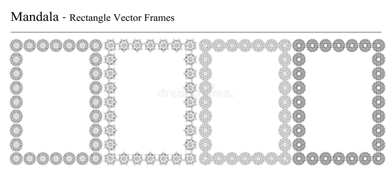 Satz von vier Mandalavektorrahmen vektor abbildung