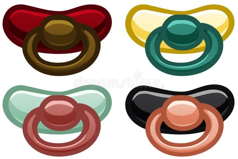 Satz von vier Nippeln verschiedener Farben vektor abbildung