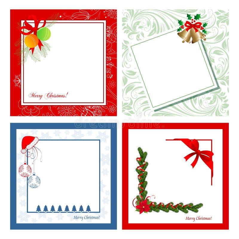 Satz Weihnachtskarten lizenzfreie abbildung