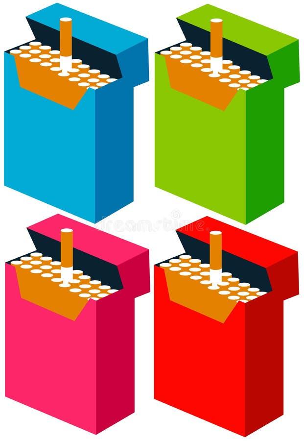 Download Satz Zigaretten stock abbildung. Illustration von zigaretten - 47100593