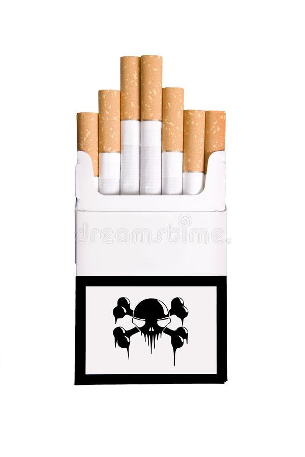 Satz Zigarren mit dem Schädel auf dem Kasten vektor abbildung