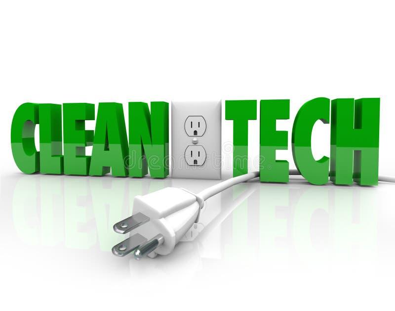 Saubere Technologie-Netzstecker-Steckdose trennen Energie-Quelle stock abbildung