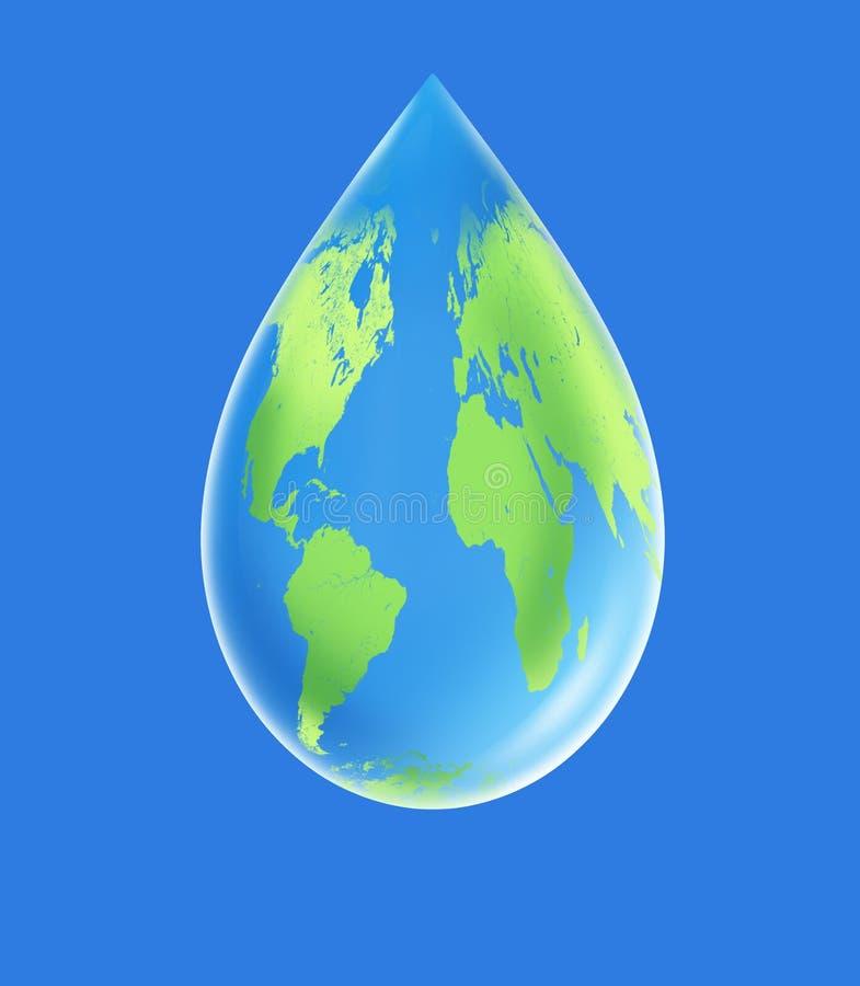 Saubere Umgebung des Weltwassertröpfchens vektor abbildung