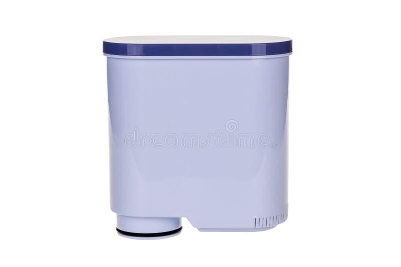 Sauberer Filter des Wassers für die automatischen Espressomaschinen lokalisiert auf Weiß, mit Beschneidungspfad lizenzfreies stockfoto