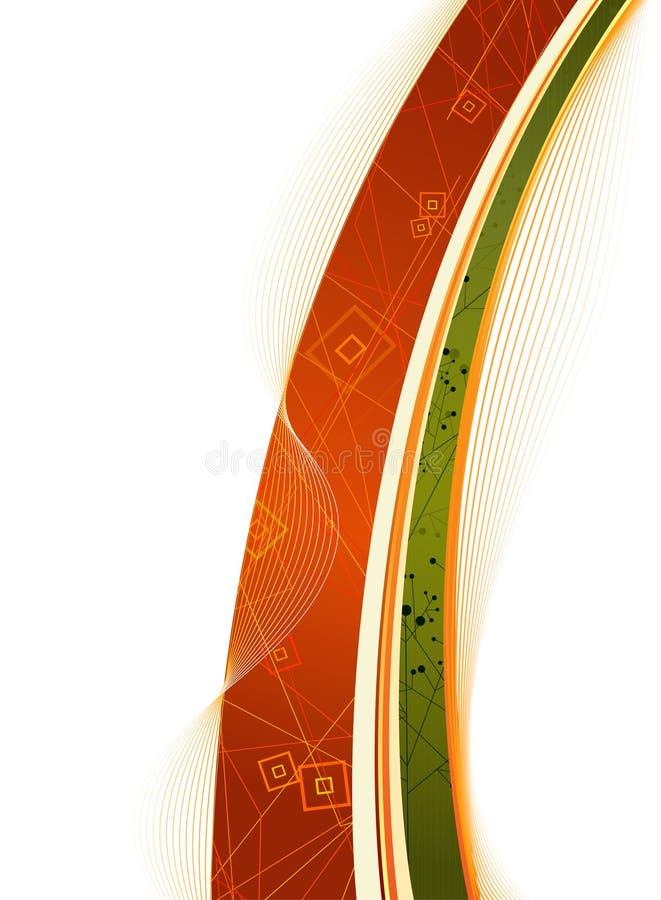 Sauberer Herbst-Thema-Auslegunghintergrund vektor abbildung