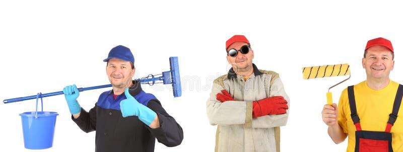 Saubererer Schweißer und Maler stockbilder