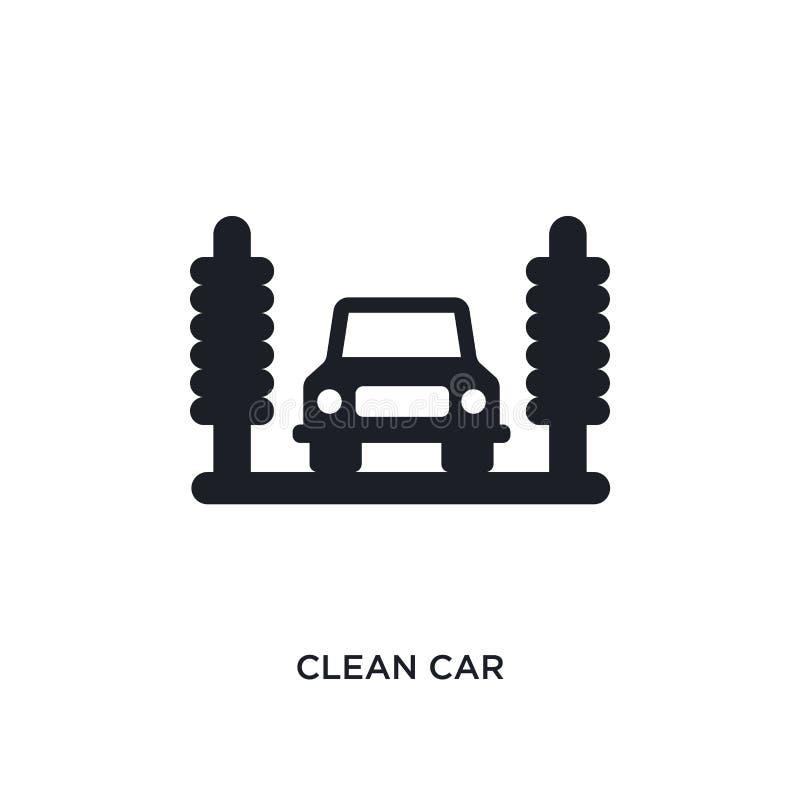 sauberes Auto lokalisierte Ikone einfache Elementillustration von Reinigungskonzeptikonen Logozeichen-Symbolentwurf des sauberen  lizenzfreie abbildung