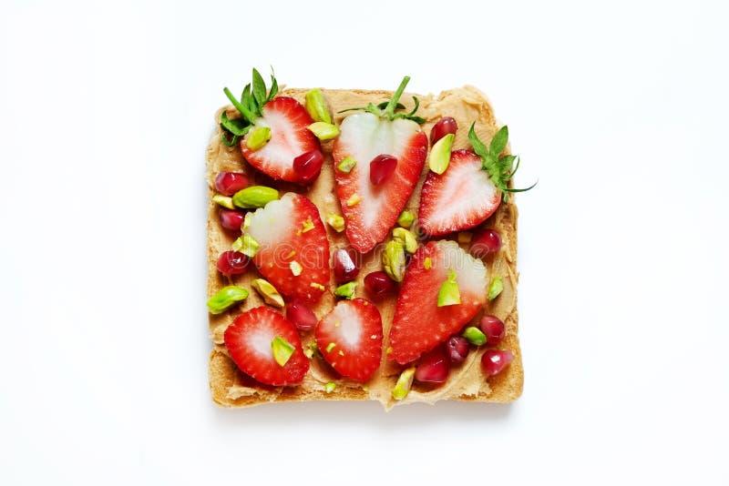 Sauberes Essenkonzept Sandwich mit organischen Bestandteilen stockbilder