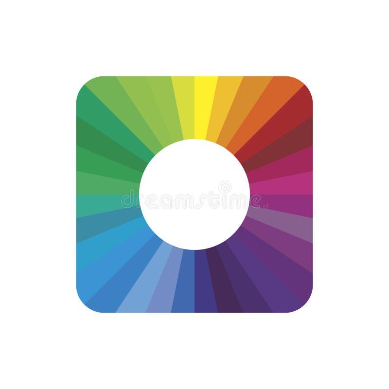 Sauberes Vektorfarbenspektrum - Modernes Symbol Vektor-Abbildung auf weißem Hintergrund lizenzfreie abbildung