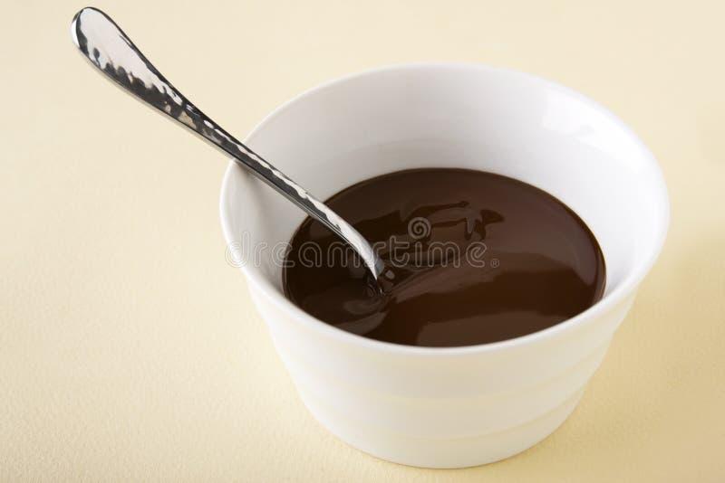 Sauce à chocolat image stock