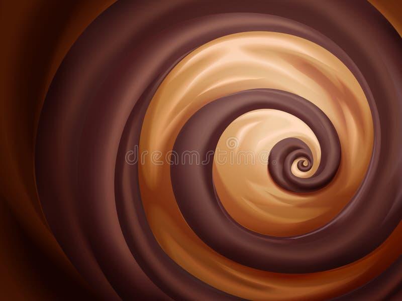 Sauce à chocolat et à caramel illustration de vecteur