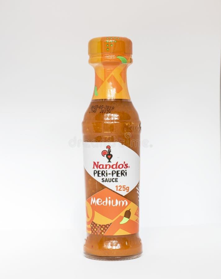 Sauce à milieu du ` s de Nando images stock