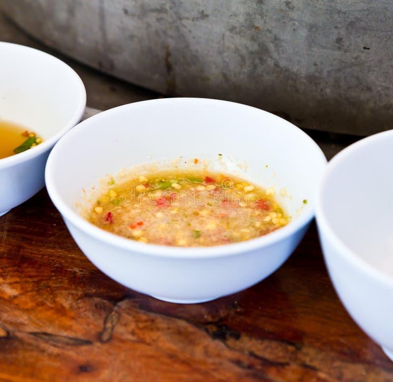 Sauce à /poivron asiatique. image stock