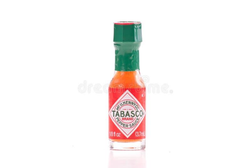 Sauce à /poivron de marque de Tabasco photographie stock libre de droits