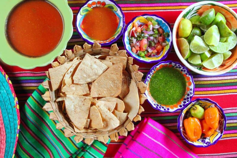 Sauce à /poivron mexicaine de habanero de sauces pico de Gallo photographie stock