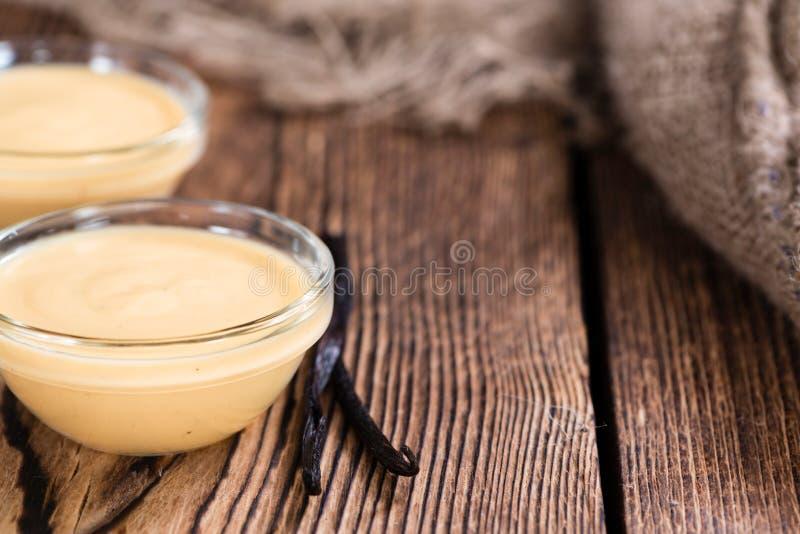 Sauce à vanille photo stock