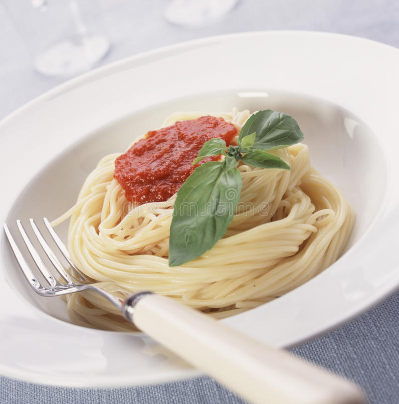 sauce томат спагетти стоковое фото