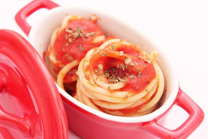 sauce томат спагетти стоковая фотография