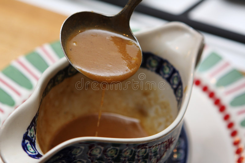 Sauce au jus images stock