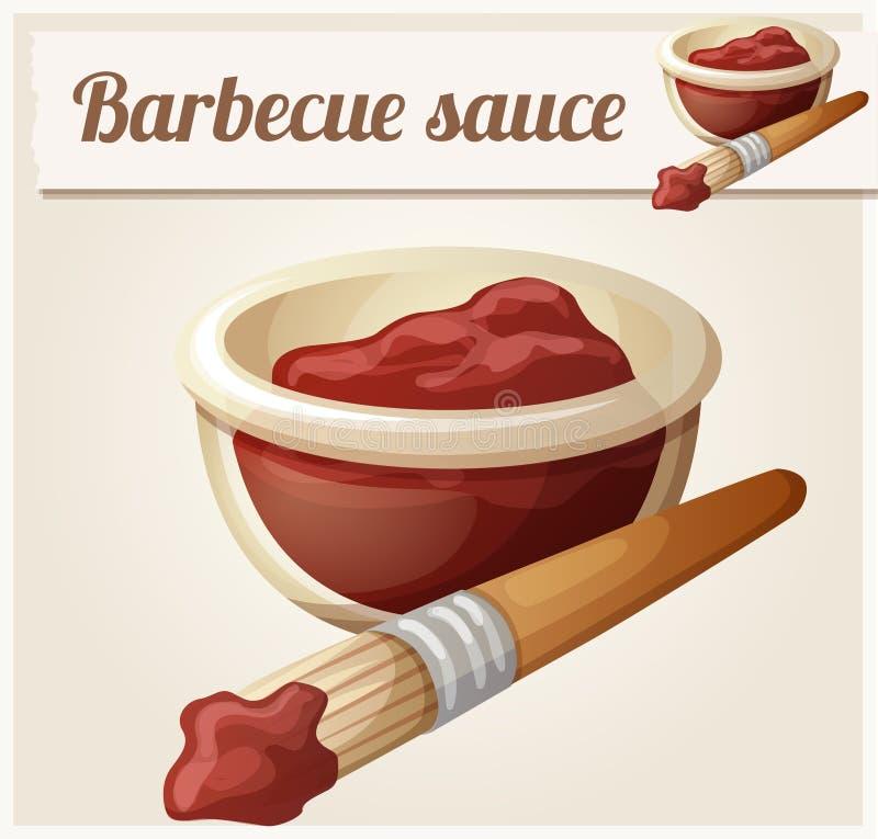Sauce barbecue Icône détaillée de vecteur illustration libre de droits
