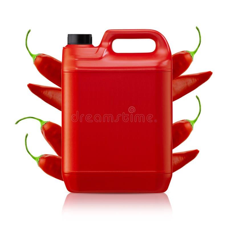 Sauce chili photographie stock libre de droits