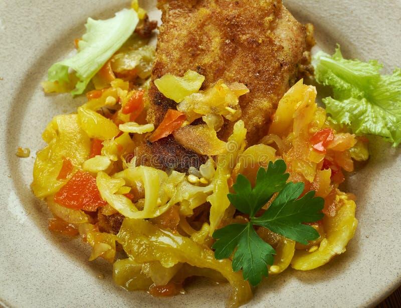 Sauce créole des Caraïbes française photos stock